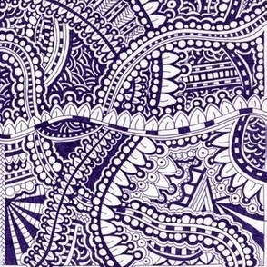 Tangle in Blue