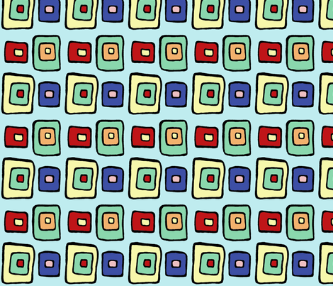 60s_line_Squares fabric by trishadstudio on Spoonflower - custom fabric