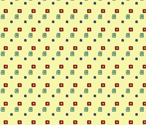60s_line_mini_squares fabric by trishadstudio on Spoonflower - custom fabric