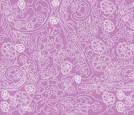 Lace Purple fabric by curious_nook on Spoonflower - custom fabric
