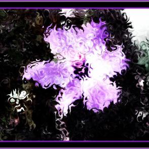 Purple Painted Flower