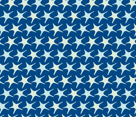 Matisse stars blue fabric by pinkbrain on Spoonflower - custom fabric