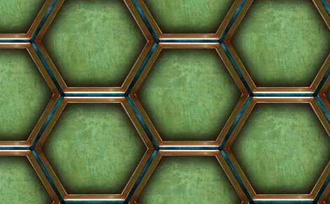 2013   Walls in Green fabric by warmcanofcoke on Spoonflower - custom fabric