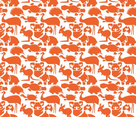 Oz Love Orange fabric by bjornonsaturday on Spoonflower - custom fabric