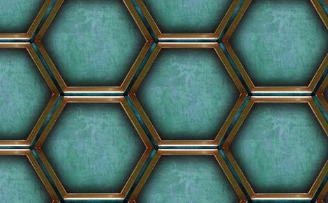 2013   Walls in Blue fabric by warmcanofcoke on Spoonflower - custom fabric