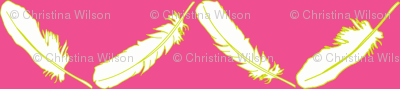 Feather Chevron Hot Pink