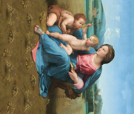 Seamless: Raphael - The Alba Madonna fabric by bonnie_phantasm on Spoonflower - custom fabric