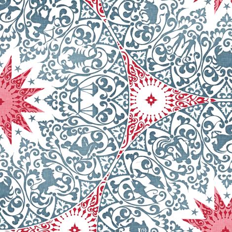 Chintz Zodiac. small fabric by spellstone on Spoonflower - custom fabric