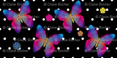 Butterfly Glow Polka Medium