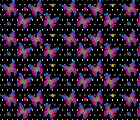 Butterfly Glow Polka Medium fabric by glanoramay on Spoonflower - custom fabric