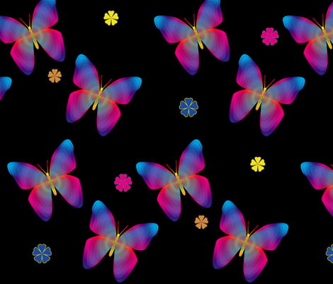 Butterfly Glow large fabric by glanoramay on Spoonflower - custom fabric