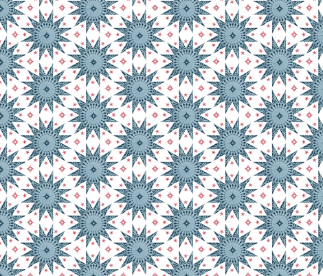 Indigo Chintz Stars fabric by spellstone on Spoonflower - custom fabric