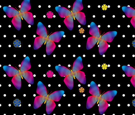 Butterfly Glow Polka Large fabric by glanoramay on Spoonflower - custom fabric