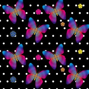 Butterfly Glow Polka Large