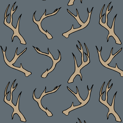 Deer Antlers fabric by pond_ripple on Spoonflower - custom fabric