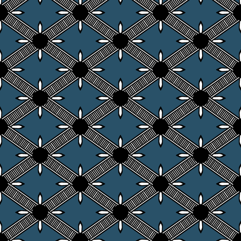 Fancy Diamond Check II. fabric by pond_ripple on Spoonflower - custom fabric