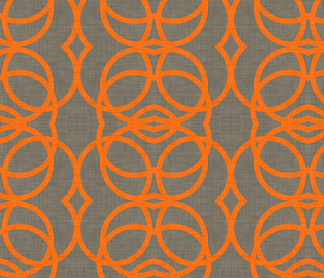 orange_circles_linen fabric by holli_zollinger on Spoonflower - custom fabric