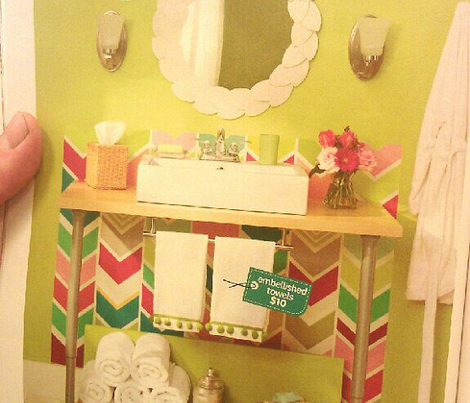 Multi Colored Chevron Large