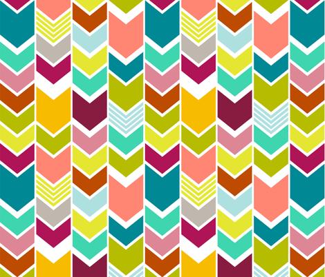 Multi Colored Chevron Large fabric by mrshervi on Spoonflower - custom fabric