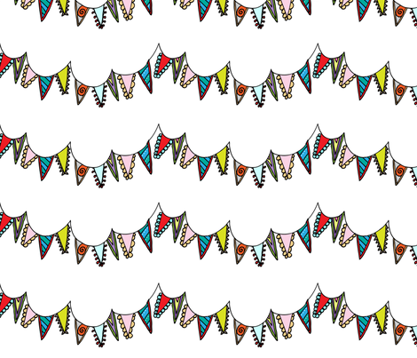 Banner Party fabric by lillianburns on Spoonflower - custom fabric