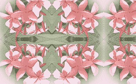 LightPink plumeria fabric by waiomaotiki on Spoonflower - custom fabric