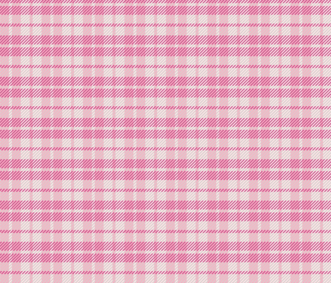 Palaka Pink stripes plaid fabric by waiomaotiki on Spoonflower - custom fabric