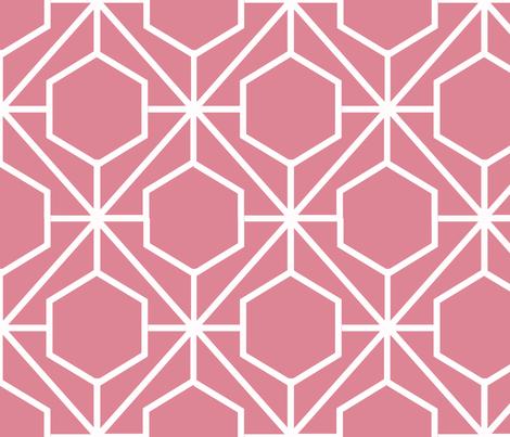 Pretty Web Coral Ground fabric by honey&fitz on Spoonflower - custom fabric