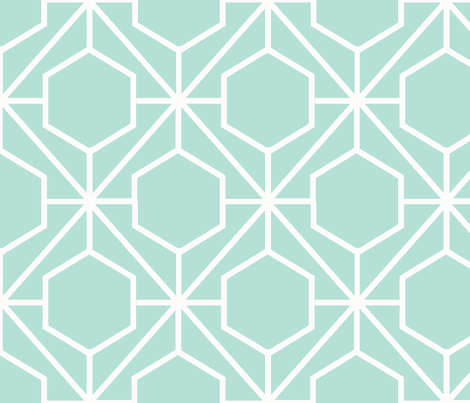 Pretty Web Mint Ground fabric by honey&fitz on Spoonflower - custom fabric