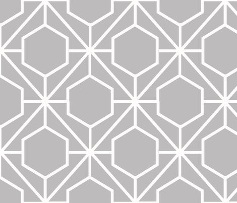 Pretty Web Chinchilla Ground fabric by honey&fitz on Spoonflower - custom fabric