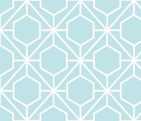 Pretty Web Aqua Ground fabric by honey&fitz on Spoonflower - custom fabric