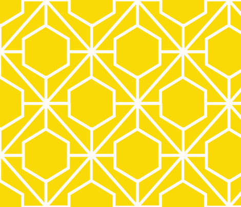 Pretty Web Sunshine Ground fabric by honey&fitz on Spoonflower - custom fabric