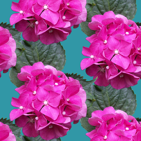 Hydrangea fabric by pond_ripple on Spoonflower - custom fabric