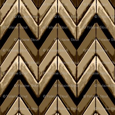 Zigzag chevrons all in brown tones