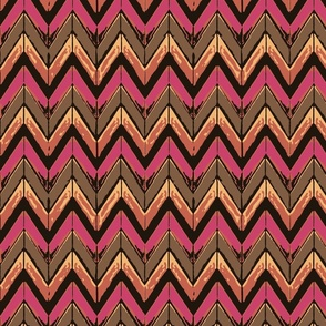 Chocolate pink zig zag to town