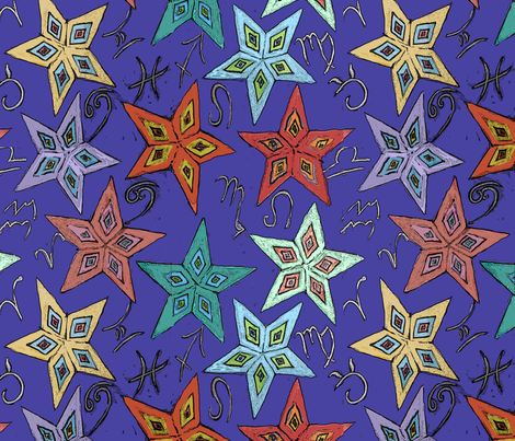 astrological_signs fabric by m__elizabethblair on Spoonflower - custom fabric