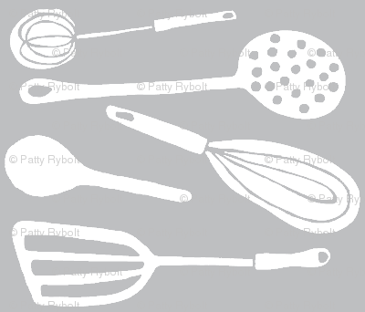Magic Kitchen Tools (driftwood grey & white)