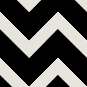 Thick Black and White Chevron