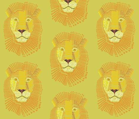 Leo the Lion Light fabric by smuk on Spoonflower - custom fabric