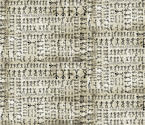 The Dancing Men fabric by marchhare on Spoonflower - custom fabric