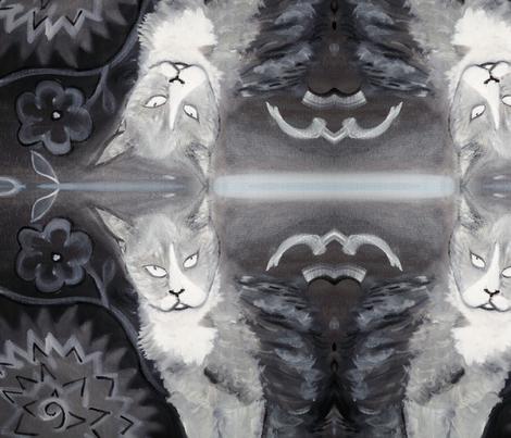 ARTBYLESgreykit fabric by artbyles on Spoonflower - custom fabric