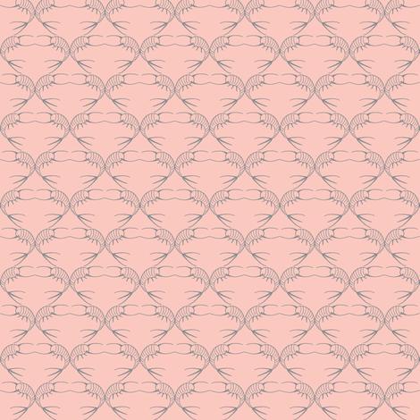 old pink silverfish fabric by katarinakarsberg on Spoonflower - custom fabric