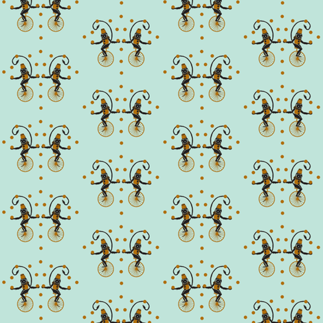 Circus Monkey Cinna fabric by katarinakarsberg on Spoonflower - custom fabric