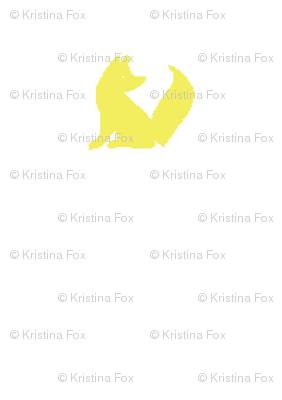 white + yellow fox