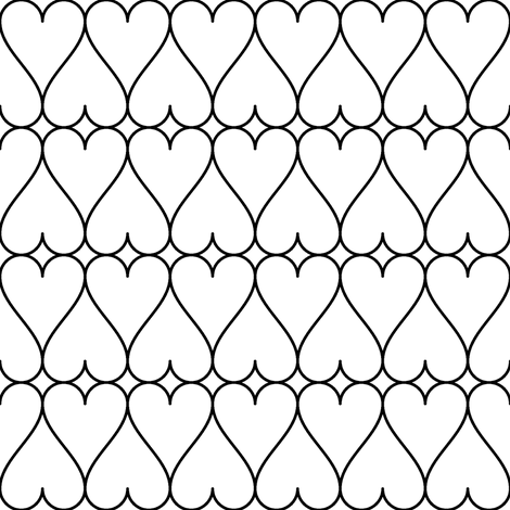 hearts in a row - c2mm fabric by sef on Spoonflower - custom fabric