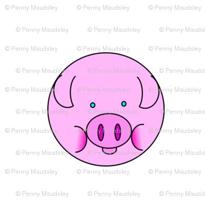 PINK PIGGY POLKA DOTS