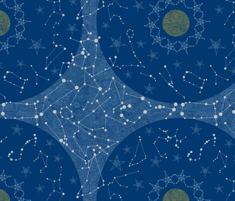 Starry Skies fabric by rubydoor on Spoonflower - custom fabric