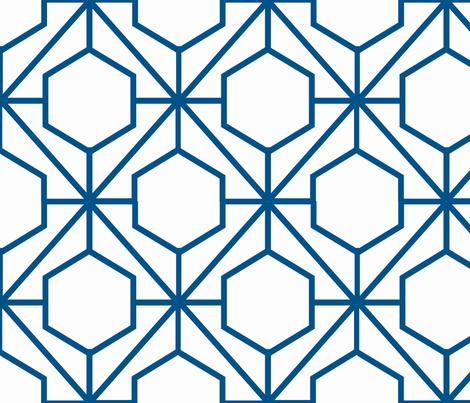 Pretty Web Navy fabric by honey&fitz on Spoonflower - custom fabric