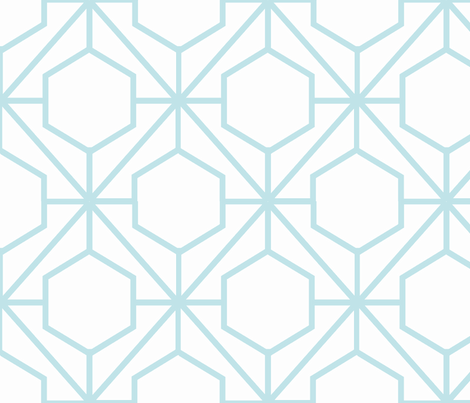 Pretty Web Aqua fabric by honey&fitz on Spoonflower - custom fabric