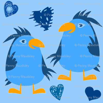 BLUEBIRDS N HEARTS