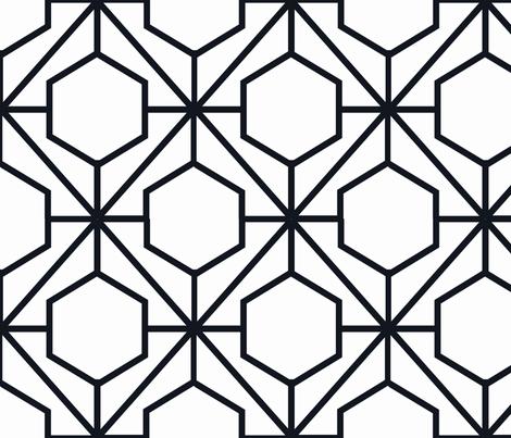 Pretty Web Ebony fabric by honey&fitz on Spoonflower - custom fabric